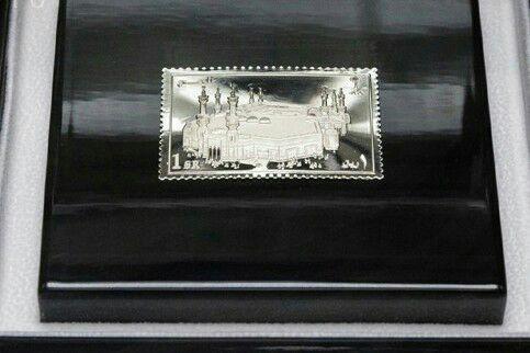 تصویر نمایشگاه «مکه در تمبرهای نقرهای» در ازبکستان