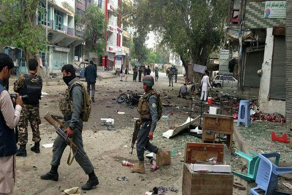 تصویر وقوع چند انفجار در شهر های جلال آباد و کابل