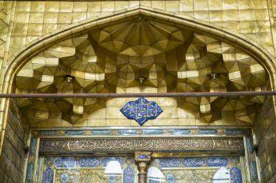 تصویر آغاز مرحله دوم مقاوم سازی ایوان طلای حرم حضرت عباس علیه السلام