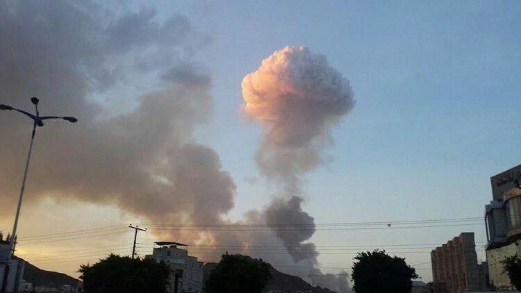 تصویر حمله ائتلاف سعودی به صنعا