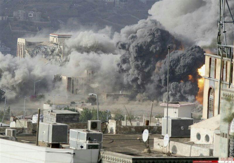 تصویر ده ها شهید در حمله جنگندههای عربستان به یمن