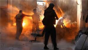 تصویر درگیری شدید میان ارتش سوریه و داعش در جنوب دمشق