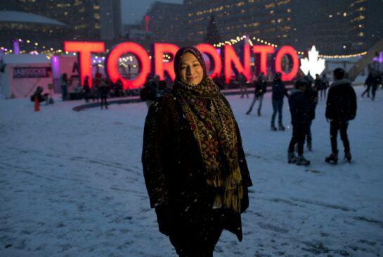 تصویر بانوی محجبه کاندیدای انتخابات شورای شهر تورنتو شد