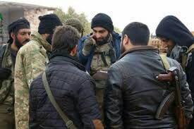 تصویر تسلیم شدن بیش از ۱۰۰ تروریست از سنیهای تندروی احرار الشام در سوریه