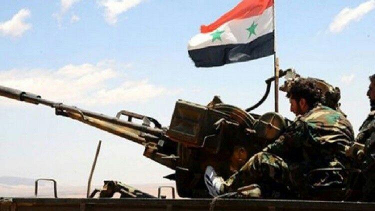 تصویر آزادی منطقه الکینایات به دست نیروهای ارتش سوریه