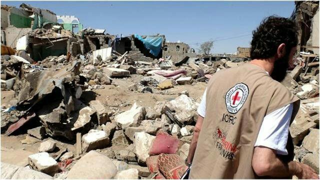 تصویر هشدار کمیته صلیب سرخ در خصوص وضعیت انسانی یمن