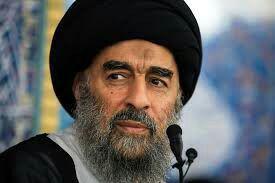 تصویر آیت الله العظمی مدرسی خواستار گسترش نظام سیاسی و حضور مردم در انتخابات عراق شد