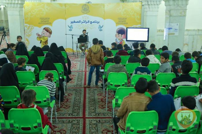 تصویر احیای شهادت حضرت فاطمه زهرا سلام الله عليها با برگزاری برنامه زائر کوچک، توسط آستان مقدس علوی