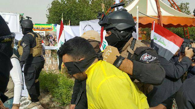 تصویر دستگیری طراحان و عاملان حمله خونین در جنوب عراق