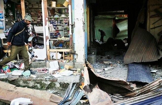 تصویر انفجاری تروریستی در کشمیر هند