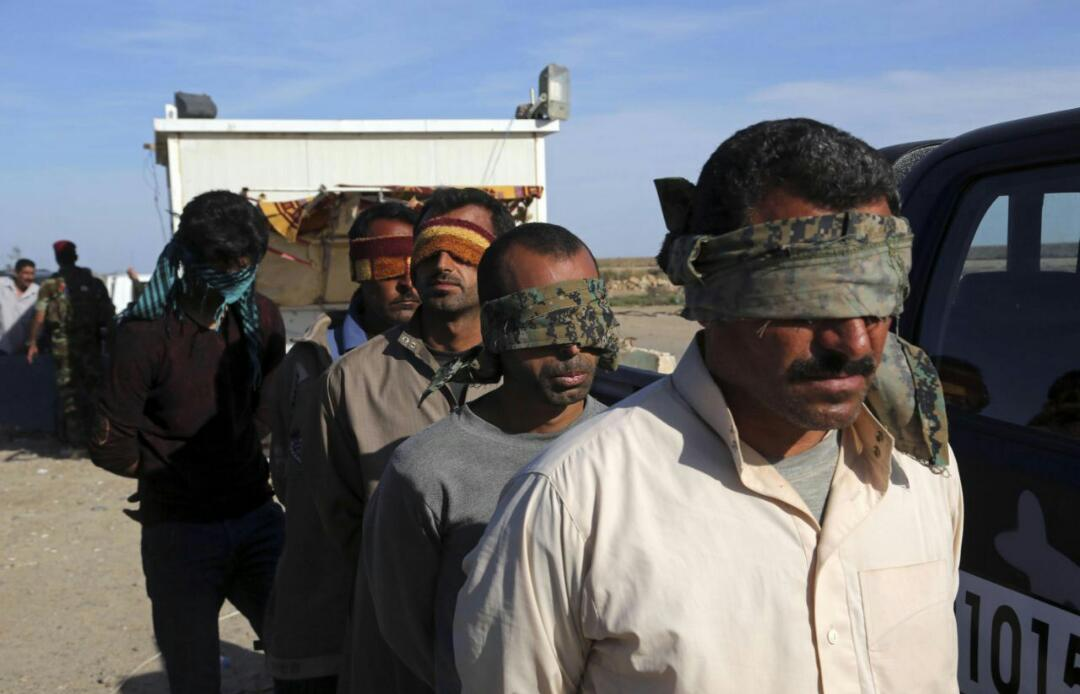 تصویر بازداشت عناصر داعش در اقلیم کردستان عراق
