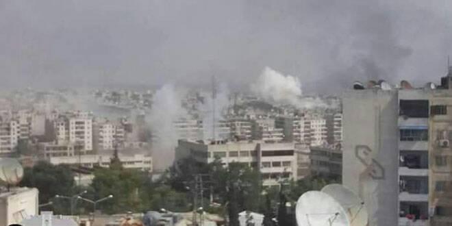 تصویر حمله خمپاره ای سنی های تندرو به دمشق