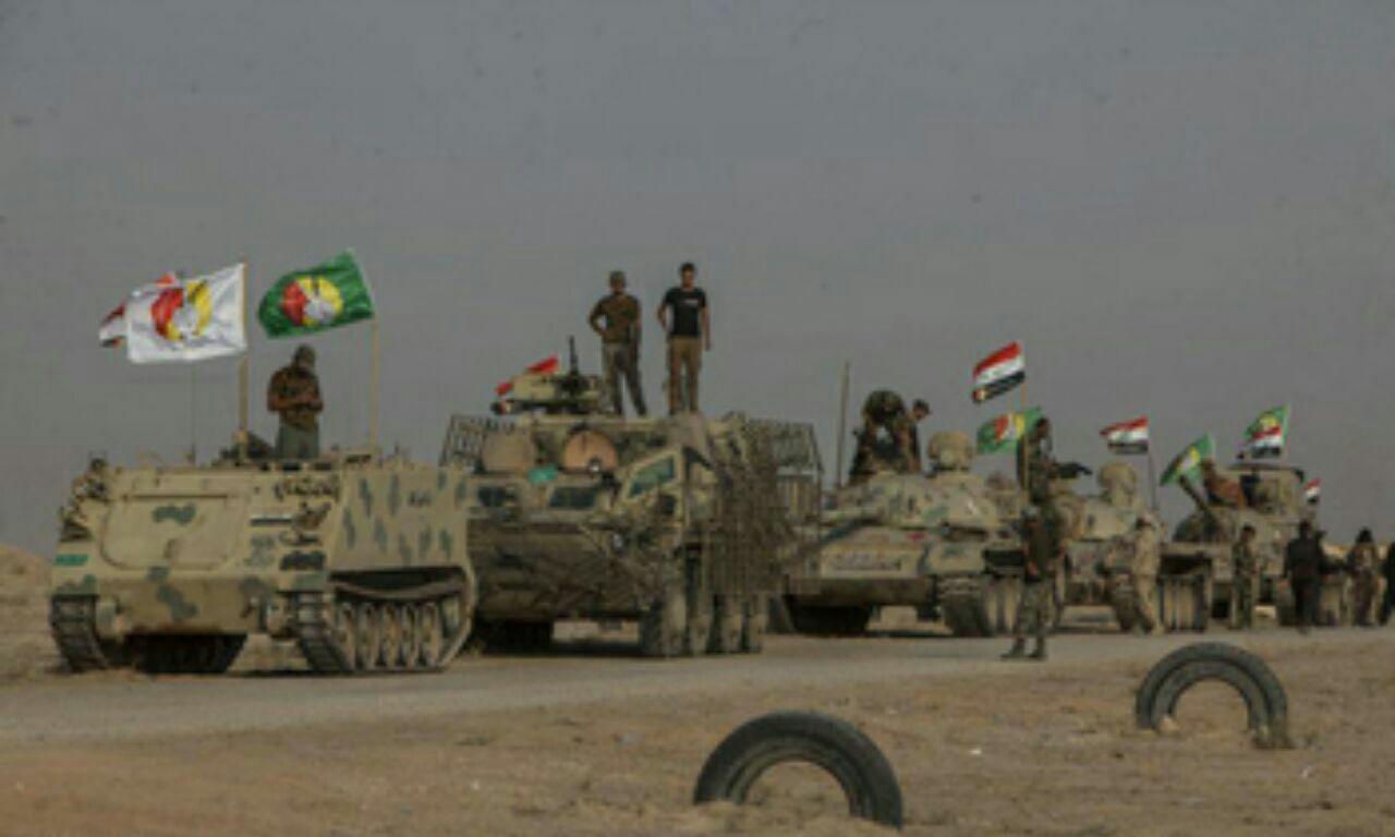 تصویر نیروهای مردمیِ عراق، خبرها درباره عقب نشینی از برخی مناطق را تکذیب کرد