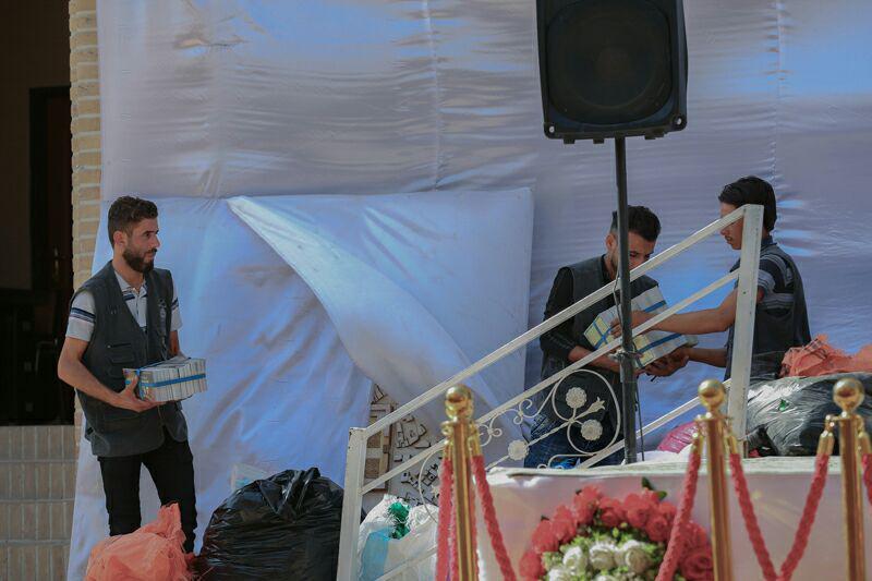 تصویر 1000 خادم افتخاری در حرم مطهر عسکریین