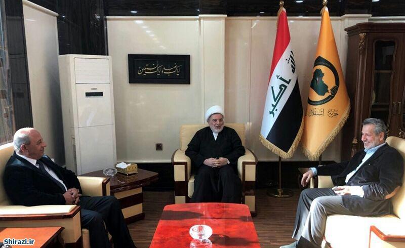 تصویر ملاقات مسئولان سازمان عمل اسلامی عراق با نائب رئیس پارلمان عراق