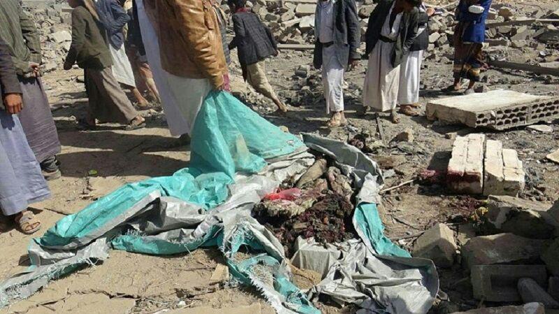 تصویر ۸ شهید از جمله ۶ زن و کودک در حمله ائتلاف سعودی به «صعده»