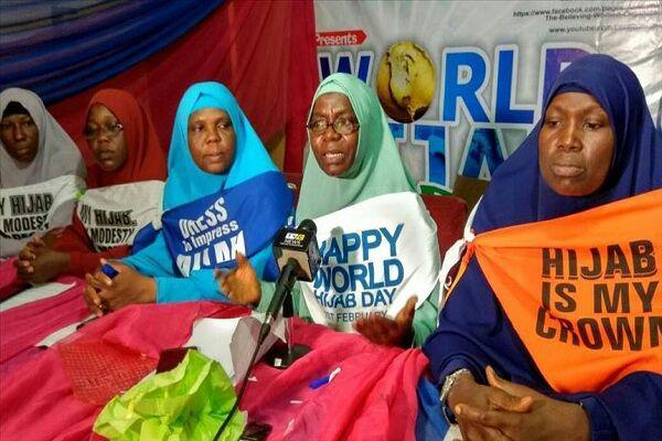 تصویر تأکید سازمان زنان مسلمان نیجریه بر ممنوعیت تبعیض علیه حجاب