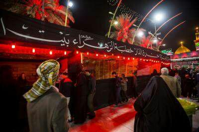 تصویر سوگواره حزن فاطمی در بین الحرمین کربلا برگزار شد