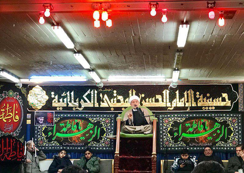 تصویر اقامه عزای فاطمی در مراکز مرتبط با مرجعیت شیعه