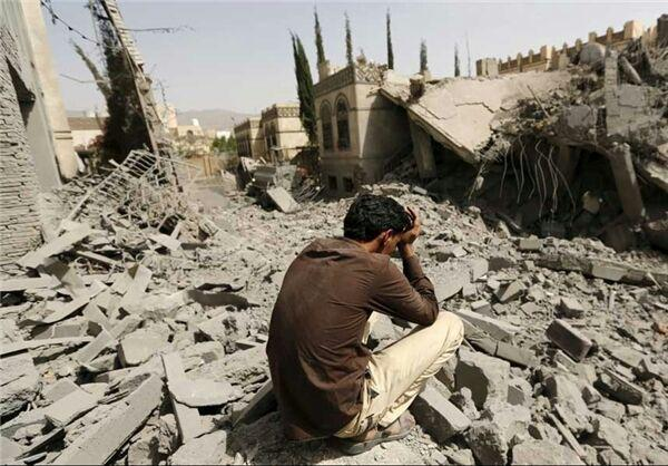 تصویر حمله جنگنده های سعودی به استان عمران یمن