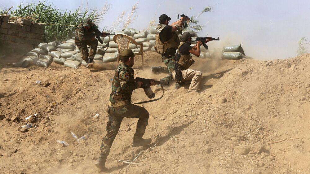 تصویر حمله عناصر داعش در بعقوبه عراق دفع شد