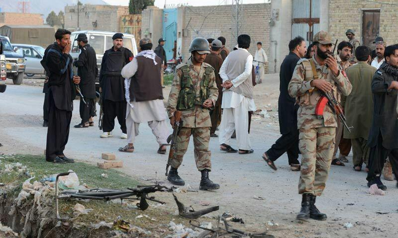 تصویر حمله تروریستی در کویته پاکستان