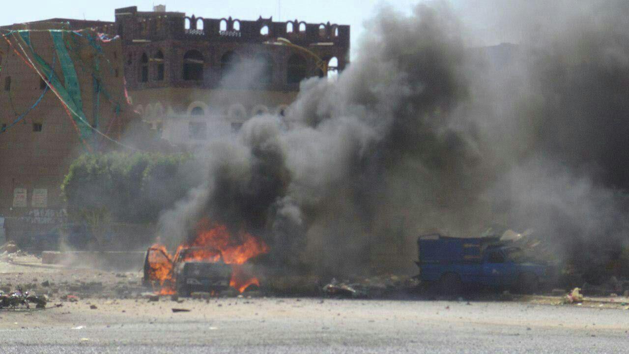 تصویر جدیدترین یورش جنگندههای سعودی به صعده یمن 18 شهید برجای گذاشت