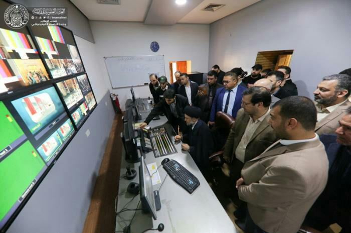 تصویر شبکه ماهوارهای آستان مقدس علوی افتتاح شد