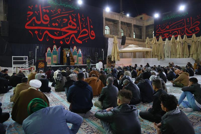 تصویر جهان تشیع در عزای فاطمی – عزاداری شیعیان در آستان مقدس عسکریین علیهما السلام سامرا – عراق