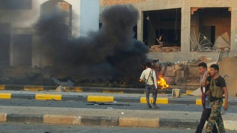 تصویر ۵۴ کشته و زخمی در حمله داعش به یگان مبارزه با تروریسم عدن