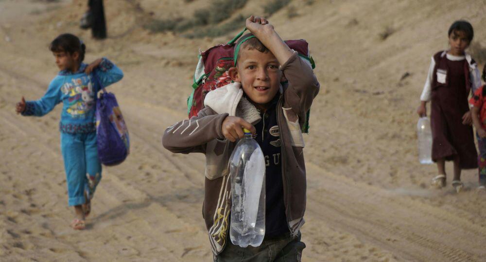 تصویر کمک ۵ میلیون دلاری ژاپن به کودکان عراقی