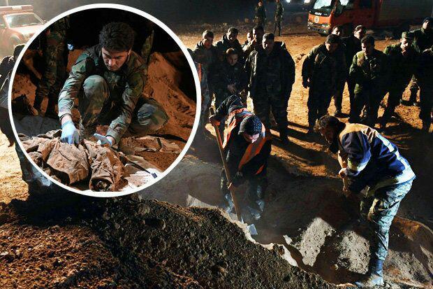 تصویر کشف یک گور جمعی دیگر در سوریه