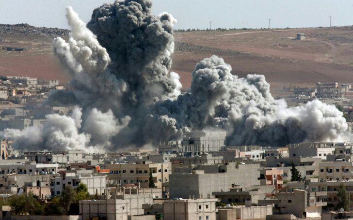 تصویر 11 شهید و مجروح در حمله خمپارهای تروریستها به حومه دمشق