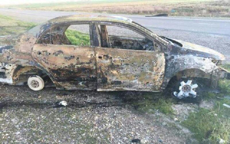 تصویر داعش در جاده بغداد-کرکوک ۵ عضو یک خانواده را قتل عام کرد