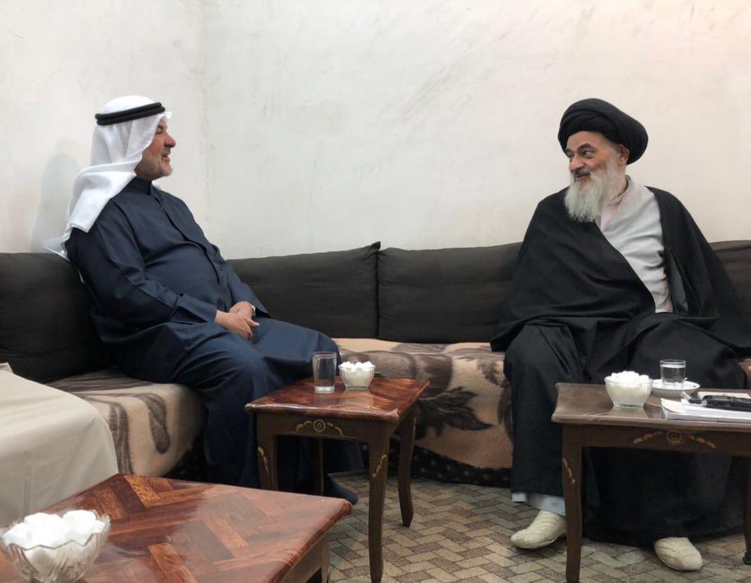 تصویر سفر نماینده پارلمان کویت به ایران و اعلام همبستگی شیعیان کویت با مرجعیت شیعه