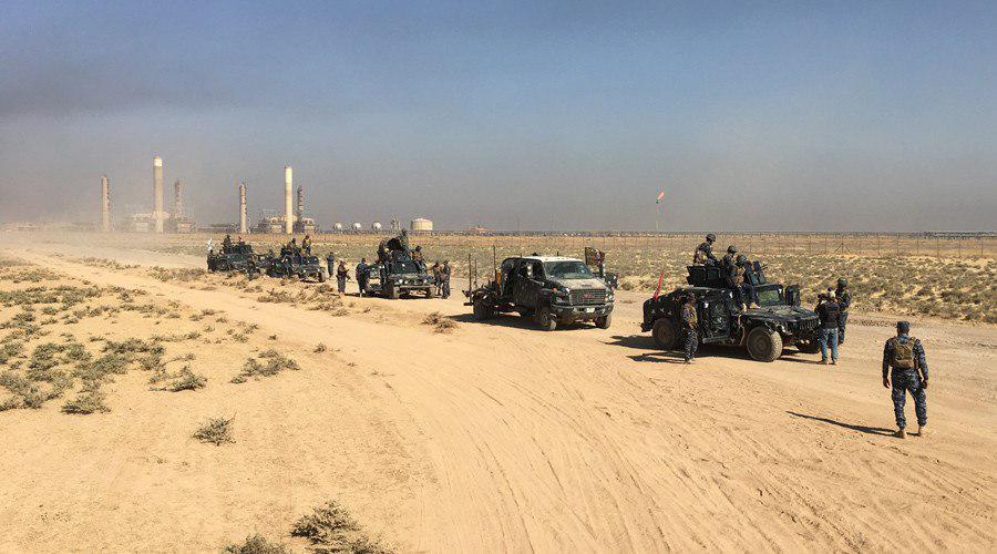 تصویر آغاز عملیات پاکسازی تروریستها در صحرای غربی تا مرز عربستان