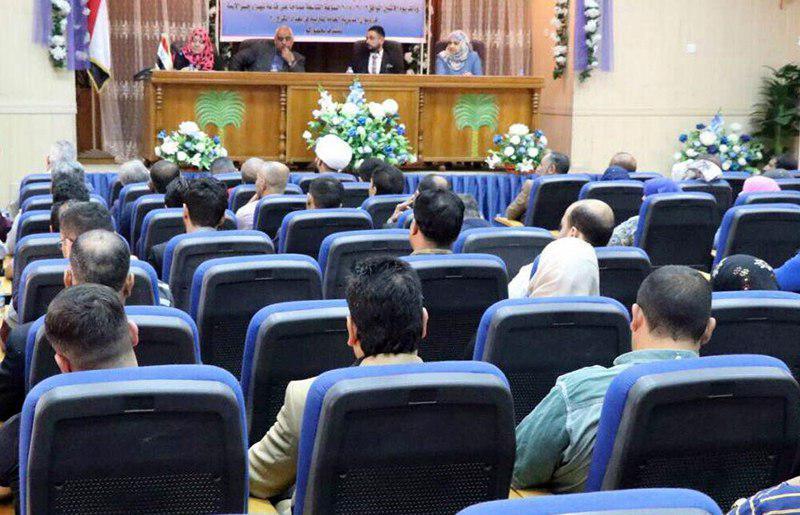 تصویر حضور مؤسسه أنوار الجوادین در سمینار مطالعاتی زبان ها و چالش های پیش روی آن در شهر بغداد