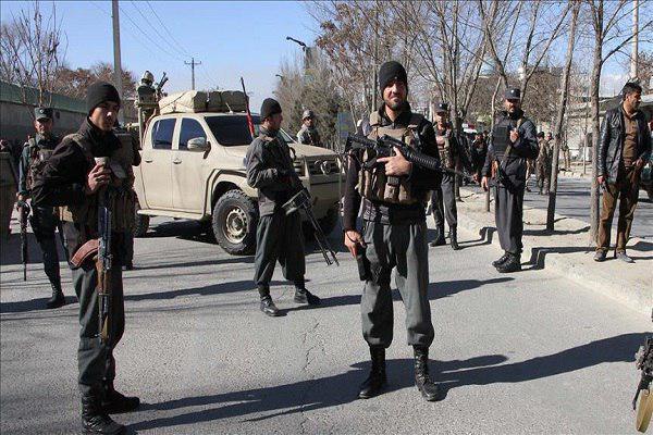 تصویر حمله طالبان به پایگاه امنیتی کابل