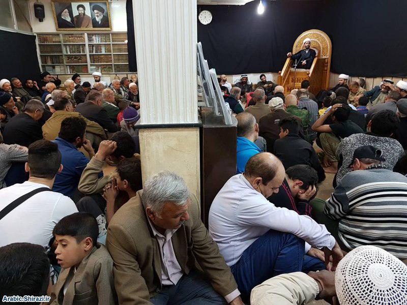 تصویر گزارش تصویری – مراسم سوگواری شهادت حضرت امام علی النقی علیه السلام در دفتر آيت الله العظمی شیرازی  در منطقه زینبیه شهر دمشق پایتخت سوریه