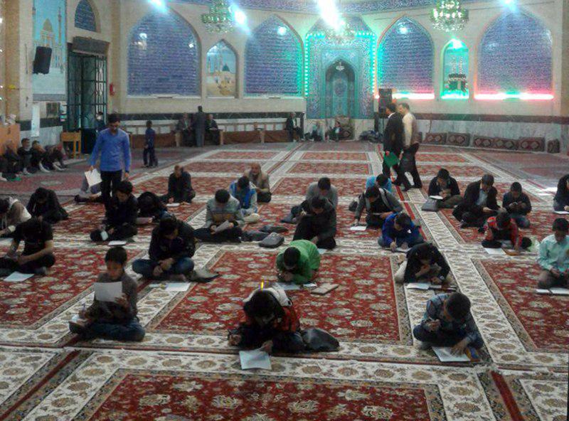 تصویر برگزاری آزمون احکام و عقاید مؤسسه دارالمهدی والقرآن الحکیم شهر اصفهان