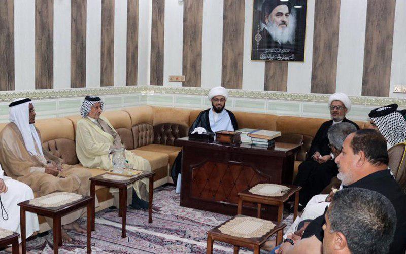 Photo of دفتر مرجعیت شیعه در بصره میزبان شخصیت های دینی و فرهنگی