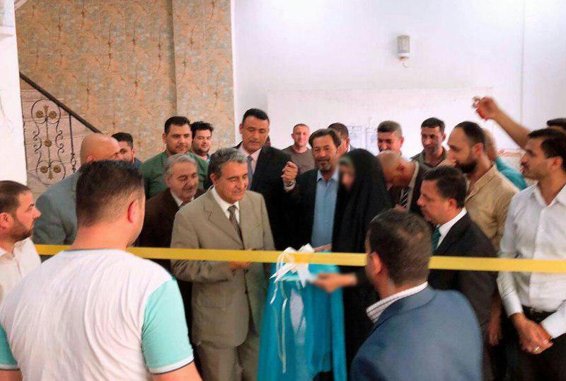 تصویر افتتاح کتابخانه بخش روزنامه نگاری دانشگاه اهل بیت علیهم السلام در کربلای معلی