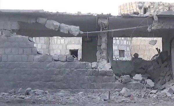 تصویر تخریب یک مدرسه در یمن در پی حملات جنگندههای سعودی