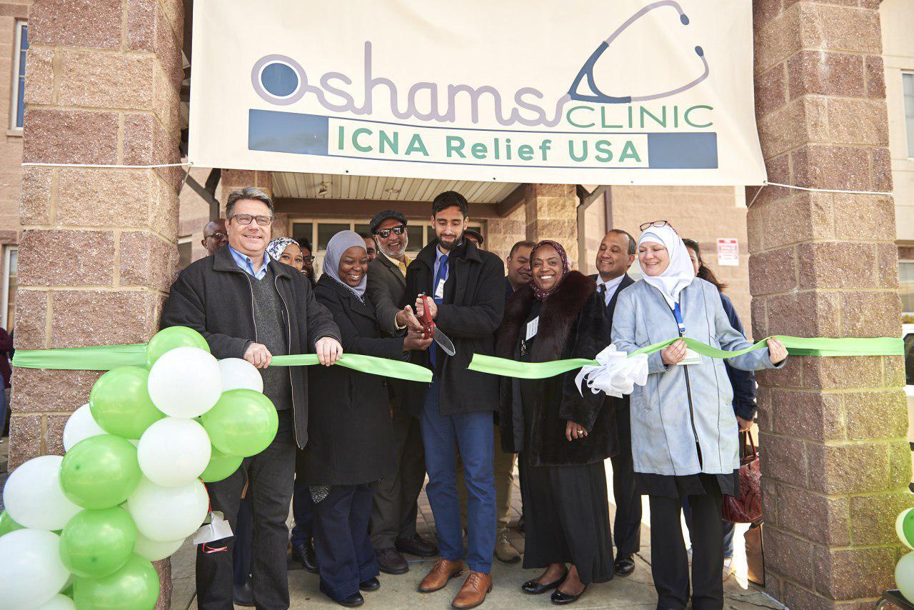 تصویر افتتاح یک درمانگاه رایگان توسط مسلمانان در فیلادلفیا