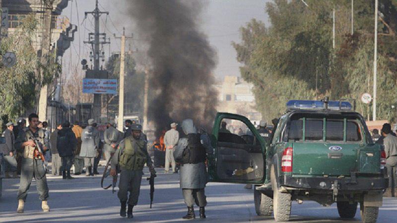 تصویر انفجار بمب در مرکز ولایت قندهار در جنوب افغانستان