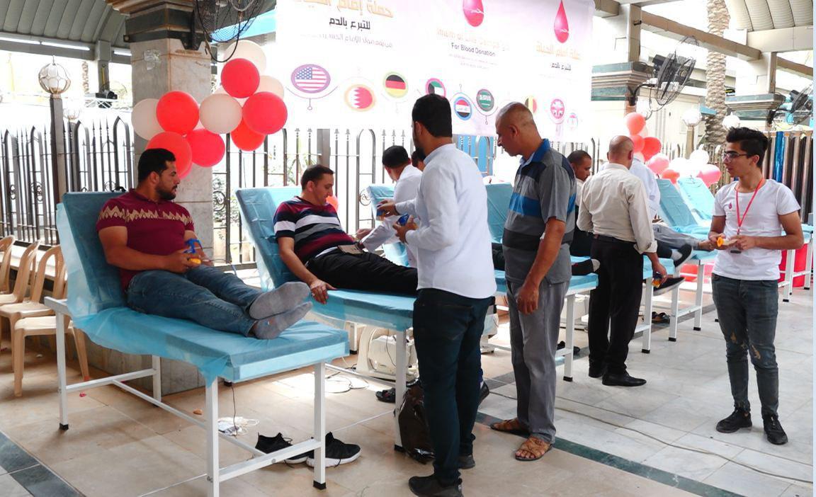 تصویر ادامه فعالیت پویش مردمی اهدای خون «امام زندگانی» در شهر مقدس کربلا