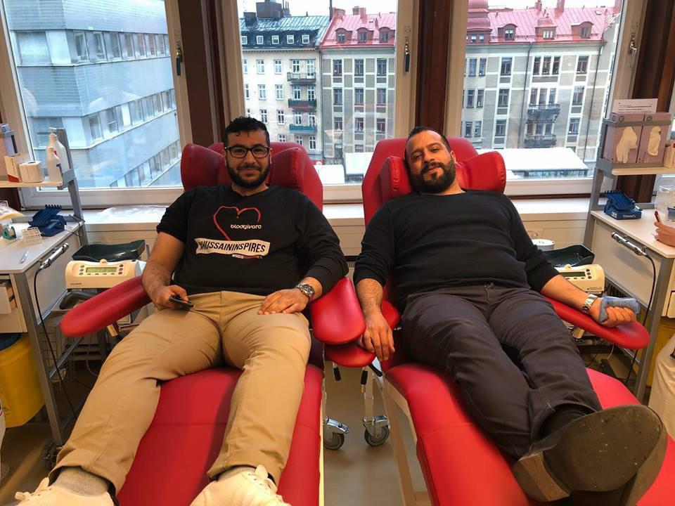 Photo of اهدای خون در کشور سوئد در روز میلاد امام حسین علیه السلام