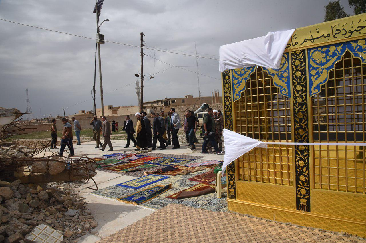تصویر نصب ضریح های جدید مراقد مقدس در شهر موصل عراق