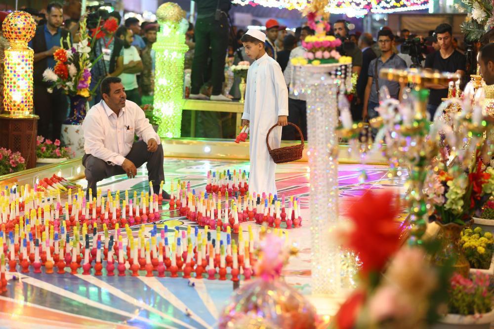 تصویر برگزاری جشنواره شمع در شهر مقدس کربلا