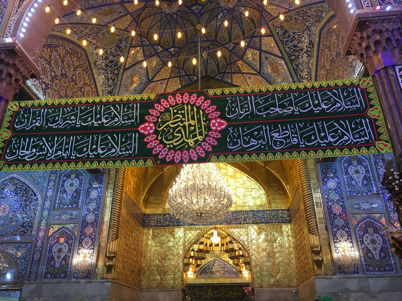 تصویر حضور میلیونی شیعیان در شب نیمه شعبان در شهر مقدس کربلا